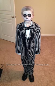 Cool Homemade Jack Skellington Costume from Nightmare Before Christmas... This website is the Pinterest of costumes