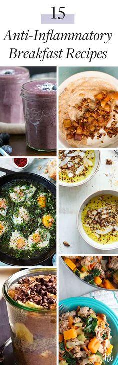 15 Anti-Inflammatory Breakfast Recipes #antiinflammatory #breakfastrecipes #antiinflammatoryfoods #inflammation #breakfasts #healthybreakfasts #healthy