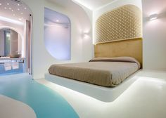 KLab decks out Santorini hotel in smooth curves