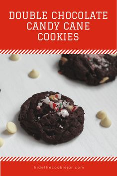 Christmas Food – Double Chocolate Candy Cane Cookies A new favourite for the Holiday baking list! Holiday Baking, Christmas Baking, Christmas Snacks, Christmas Recipes, Quick Snacks For Kids, Yummy Drinks, Yummy Food, Candy Cane Cookies, Cookie Recipes