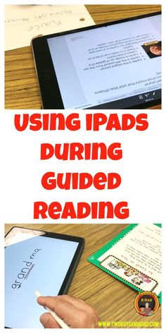 In this two-part post, I will demonstrate how using iPads (both mini-iPads and an iPad Pro) can bring guided reading into the digital age.  I use an iPad for quick mini-lessons during guided reading, or I have the students read the text on the iPad.  Down