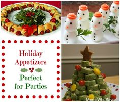 10 Holiday Appetizers — Perfect for Parties  #party #holiday #Christmas #appetizers #recipes