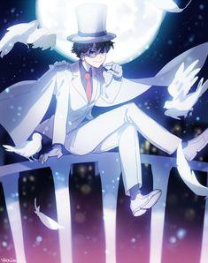 Magic Kaito: Kid The Phantom Thief Kaito Shion, Kaito Kuroba, Detektif Conan, Conan Comics, Detective Conan Wallpapers, Kaito Kid, Fangirl, Kudo Shinichi, Magic Kaito