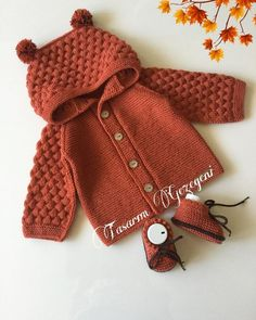 Baby Cardigan Knitting Pattern, Baby Knitting Patterns, Sewing Patterns, Crochet Patterns, Crochet Baby Clothes, Knitting For Kids, Baby Sweaters, Handmade Clothes, Knit Crochet