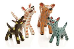 Funky Dog Ceramics by Elodie Barker, Large pieces, Limited Edition