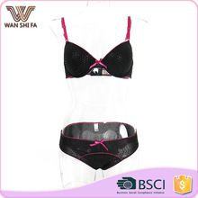 Breathable hot sale ladies pink strap black stylish hot fancy bra and panty set Best Seller follow this link http://shopingayo.space