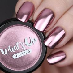 Chrome Powder Create nails that will make your heart blush with this stunning rose chrome mirror powder. Weight: gramsCreate nails that will make your heart blush with this stunning rose chrome mirror powder. Fabulous Nails, Gorgeous Nails, Pretty Nails, Metallic Nails, Acrylic Nails, Coffin Nails, Crome Nails, Nagellack Design, Manicure E Pedicure