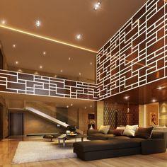 Design Villa Wohnzimmer Beleuchtung und Möbel - Beleuchtung wohnzimmer