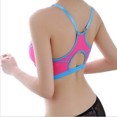 fc677fdcff Adjustable Spaghetti Straps Women Fitness Bra Shakeproof Stretch Brassiere  Push Up Bras Top Seamless Padded Breathable Bra