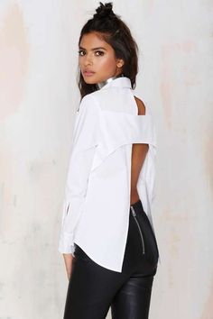 Nasty Gal Don't Back Out Cutout Top