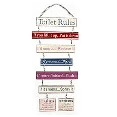 Bathroom Cleanliness Rules Room Rules Notice Door Sign This