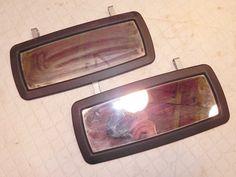 Jeep Wrangler Sun Visor Visors Clip on Mirrors (Pair) 87-95 Free Ship