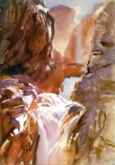 The Athenaeum - Mountain Torrent (John Singer Sargent - )