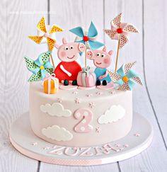 Peppa Pig Cake - Cake by Natalia Kudela Peppa Pig Cake - Kuchen von Natalia Kudela Tortas Peppa Pig, Bolo Da Peppa Pig, Peppa Pig Birthday Cake, Birthday Cake Girls, Birthday Cupcakes, Peppa Pig Cakes, Pig Cupcakes, 3rd Birthday, Pig Party