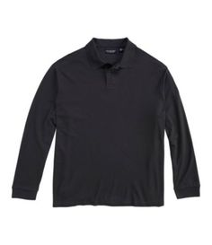 Roundtree & Yorke Big & Tall Silky Finish Long Sleeved Polo Shirt | Dillards.com