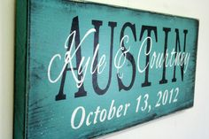 Personalized Name Sign Custom Name Sign Family by RusticlyInspired, $45.00