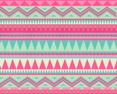 Pink Aztec Art Print