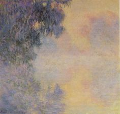 Claude Monet Paintings-Arm of the Seine near Giverny in the Fog, 1897
