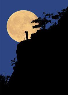 la luna en paisajes