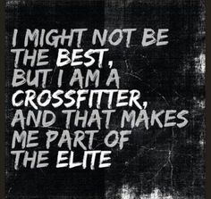 Good perspective when you start comparing yourself to others in CrossFit.  Better to compare to the average population!