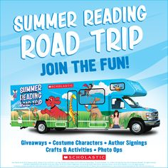 The Summer Reading Road Trip has begun! From now through July 2 RVs will travel a combined miles across the country, bringing pop-up reading festivals to cities. Click through to learn more. Reading Programs For Kids, Online Reading Programs, Reading Festival, A Writer's Life, Reading Groups, Reading Resources, Reading Challenge, First Dates, Catching Fire