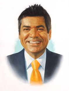 Realism portrait of George Lopez by Roberta Parada. #love