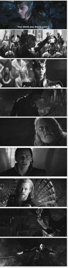 Loki - Tom Hiddleston This made me feel so sad....Poor Loki!!!:(