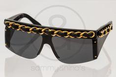 Image of Chanel 01455 Chain Black :: Vintage Sunglasses