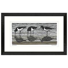 Buy Adelene Fletcher - Oyster Catchers Framed Print, 52 x 79cm Online at johnlewis.com