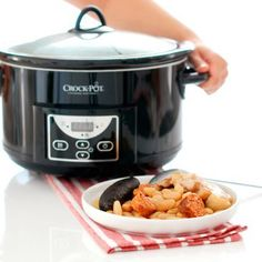 Fabada in CrockPot Recetas Crock Pot, Rice Cooker, Slow Cooker Recipes, My Recipes, Food And Drink, Meals, Kitchen, Soups, Gastronomia