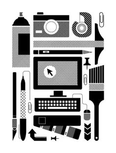 Design Tools of the Trade Screen Print by BasemintDesign on Etsy