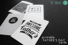 Free Printable Graphic Fathers Day Cards @ mintedstrawberry.blogspot.com