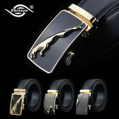 Mens Belt Metal Automatic Buckle Brand Designer Leather