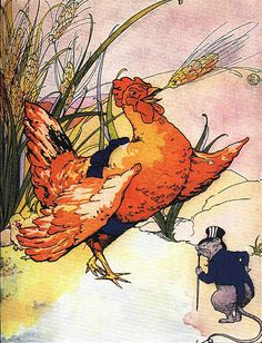 Little Red hen.   Rat refuses to help. Florence White Williams
