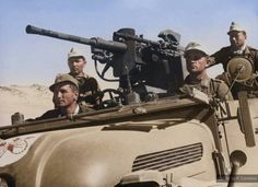photo shows one of only six Steyr 1500As scout cars to ever see service in Libya (all six serving with Sonderkommando DORA). It is equipped with a Sockellafette mount with a 2 cm KwK 30/38 gun and a MG34, the gun apparatus having probably been removed from an Sd.Kfz.222 armoured car.