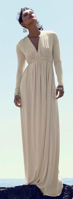 Rachel Pally Long-Sleeve Jersey Maxi Caftan Dress