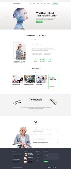 Mental Coach & Psychologist #website #template. #themes #business…