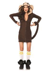 Cozy Monkey Dress Adult Womens Costume - 322681 | trendyhalloween.com