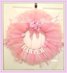 37 Ideas baby shower ideas for girls decorations pink diy hospital door for 2019 Baby Sprinkle Decorations, Gender Reveal Decorations, Baby Door Wreaths, Baby Shower Wreaths, Baby Kranz, Baby Name Signs, Names Baby, Girl Names, Handgemachtes Baby