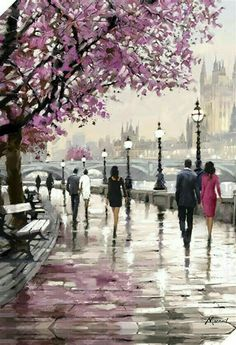 Buy Frameless Cherry Blossoms Road Diy Oil Painting By Numbers Kits Wall Art Picture Home Decor Acrylic Paint On Canvas For Artwork . Acrylic Painting Canvas, Diy Painting, Canvas Artwork, Wow Art, Cross Paintings, Wall Art Pictures, Scenery Pictures, Beautiful Paintings, Watercolor Paintings