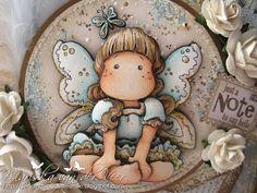Skin: E11, E00, E000, E0000 Hair: E55, E44, E53, E42, E50 Dress+butterfly+wings: Golden parts: E84, E81, W00, CB (with Diamond stickles on them) Dress+butterfly+wings: Blue Parts: B02, B00, B000, B0000, W3, W1, W00,