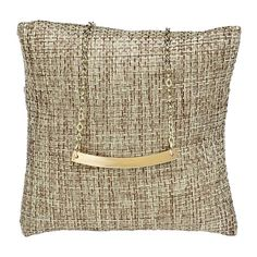 Burlap Pillow Displays    This natural burlap pillow display provides an organic feel that complements a variety of jewelry styles. The pillow holds one watch or cuff bracelet (or perhaps one or more bangle bracelets). Lay the pillow flat or tuck it into a box or tray. The pillow features a back pocket to hold excess chain, keeping it neatly out of the way. Bold Jewelry, Fashion Jewelry, Fabric Display, Rio Grande Jewelry, Burlap Pillows, Personalized Rings, Jewelry Making Supplies, Jewellery Display, Jewelry Findings