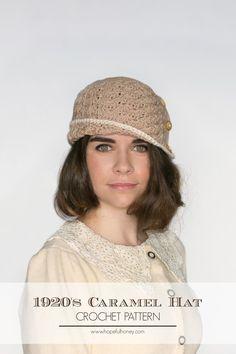 1920s Caramel Cloche Hat - Free Crochet Pattern