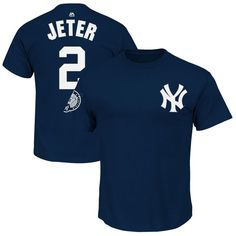 Derek Jeter New York Yankees Majestic Number Retirement Day Name & Number T-Shirt - Navy