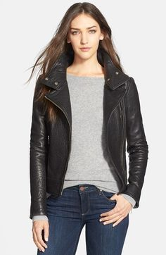Mackage Stand Collar Lambskin Leather Jacket available at #Nordstrom