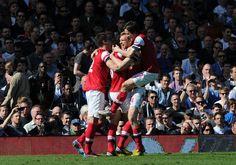 Per enjoys his goal. #Fulham v #Arsenal