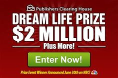 10 million pch sweepstakes entry registration - Bing images