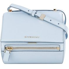 Givenchy Pandora box bag (25.662.400 IDR) ❤ liked on Polyvore featuring bags, handbags, shoulder bags, blue, blue handbags, givenchy purse, light blue purse, blue purse and givenchy
