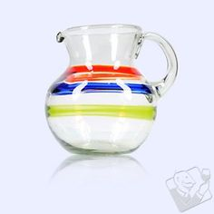 Colorful Bands Mexican Pitcher: $39.95