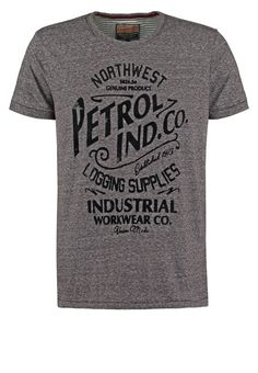Petrol Industries Print T-shirt - slate melee for £25.00 (07/01/16) with free delivery at Zalando